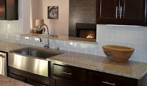 glass tile backsplash with dark cabinets modern style gray glass tile kitchen backsplash with taupe subway
