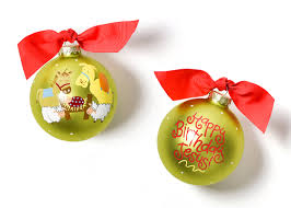 coton colors happy birthday jesus glass ornament buttons