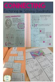 solve quadratic equations by factoring with these fun hands on