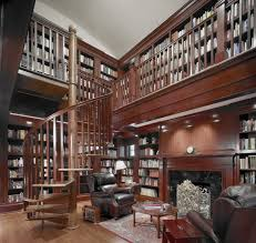 Beautiful Custom Home Library Design Photos Interior Design - Design home library