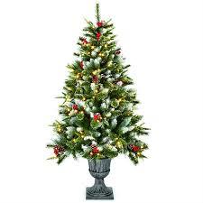 premier pre lit needle pine tree 1 5m 5ft robert dyas