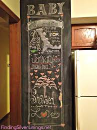 baby shower chalkboard baby shower chalkboard finding silver linings
