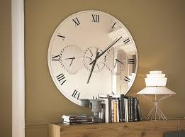 Large Mirrored Wall Clock Times Wall Mirror Clock By Cattelan Italia 2 395 00