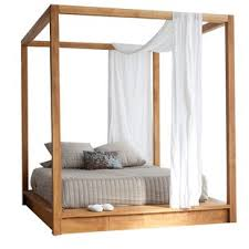 Wood Canopy Bed Frame Canopy Bed Wayfair