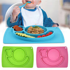 silicone cuisine silicone baby toddler table mat baby children food dish tray