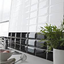 castorama faience cuisine faïence 7 5 x 15 cm métro noir castorama idées salle d o surf
