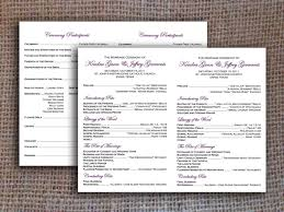 one page wedding program free one page wedding program templates microsoft word home