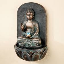reflecting buddha indoor outdoor wall water fountain