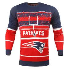 patriots sweater s patriots navy stadium light up sweater nflshop com