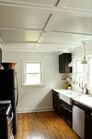 kitchen ceiling ideas rehab diaries diy beadboard ceilings before and after remodelista