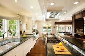 Parallel Kitchen Ideas Endearing Earth Tones Kitchen Features Rectangle Shape White Brown
