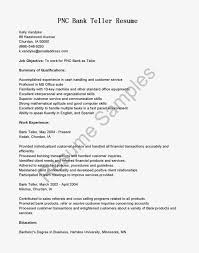 Job Objective In Resume by Job Winning Resume Samples For Bank Teller Position Impressive