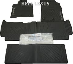 lexus brand floor mats lexus oem factory all weather 5 piece floor mat set 2013 2017