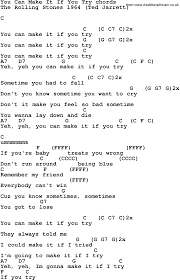 U Got It Bad Lyrics Song Lyrics With Guitar Chords For You Can Make It If You Try