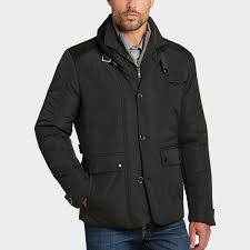 pronto uomo black modern fit quilted jacket men s casual jackets