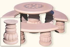 round cement picnic tables concrete landscape tables outdoor concrete tables phoenix