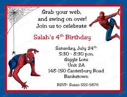 Birthday Invitation Cards Models Spiderman Birthday Invitations Blueklip Com