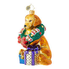 christopher radko ornaments radko animal this retriever gets it