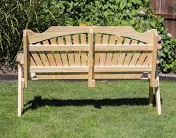 treated pine fanback garden bench