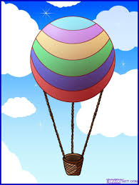 drawing of a air balloon how to draw a air balloon