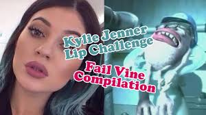 Challenge Fail Vine Jenner Lip Challenge Fail Vine Compilation Glass