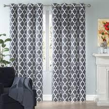 Grey Metallic Curtains Gray And Silver Curtains Drapes You Ll Wayfair