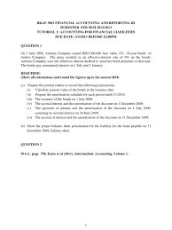 financial accounting u0026 reporting iii exercises bonds finance