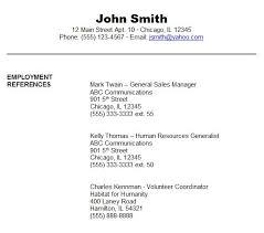 Resume Templates Reference Page Sle Reference Page Army Franklinfire Co