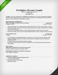 Sample Resume For Someone In by Firefighter Resume Sample U0026 Writing Guide Resume Genius