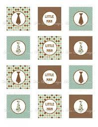 printable little man necktie baby shower party kit banner