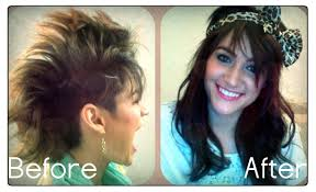 how to clip in hair extensions with a mohawk haircut u0026 review of