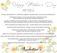 Mother S Day 2017 Mothers Day 2017 Andolinis Restaurant