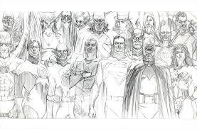 autographed copy rough justice the dc comics sketches of alex