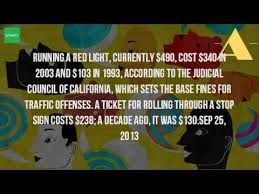 red light ticket california cost how much is the fine for running a red light youtube