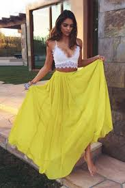yellow dress sweetheart yellow chiffon lace prom dresses evening dresses