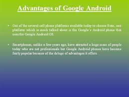 deluge android advantages of android authorstream