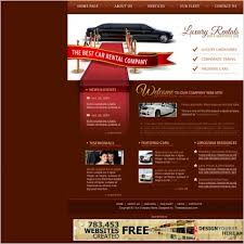 luxury car rental template free website templates in css html js