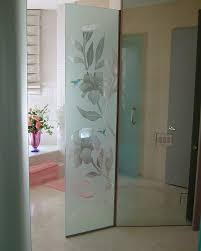 hibiscus u0026 hummingbids etched glass shower panel