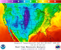 us dewpoint map dewpoint temperature forecast map of u s