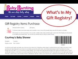 my gift registry what s in my online registry