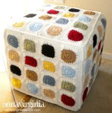 Crochet Ottoman Pattern Crochet Floor Poufs Footstools Hassocks 20 Free Patterns