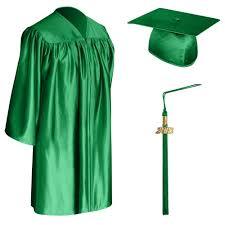green cap and gown green graduation cap gown tassel for children