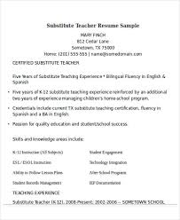 Sample Resume For Bilingual Teacher by 25 Teacher Resumes In Word Free U0026 Premium Templates
