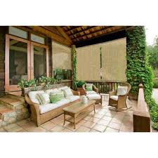 Exterior Shades For Patio Coolaroo Select Southern Sunset 90 Uv Block Exterior Roller Shade