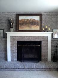 fireplace painting ideas pictures mantel paint brick color free