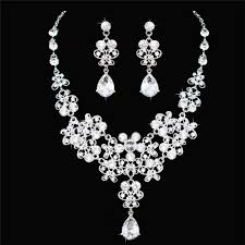 fashion necklace sets images High quality fashion crystal wedding bridal jewelry sets women jpg
