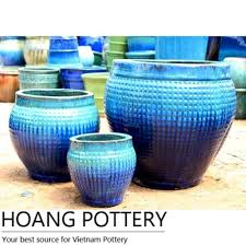 aqua blue round pots archives hoang pottery your best source