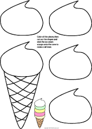 Information World Ice Cream Sundae Coloring Pages Cut Coloring Pages