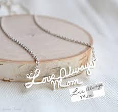 Cheap Personalized Necklaces Handwriting Necklace Signature Necklace Autograph Necklace