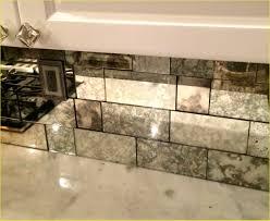 antiqued mirror tiles backsplash vanity decoration